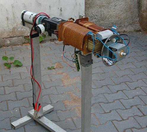 Prototipo de un cañon de tecnología EMP