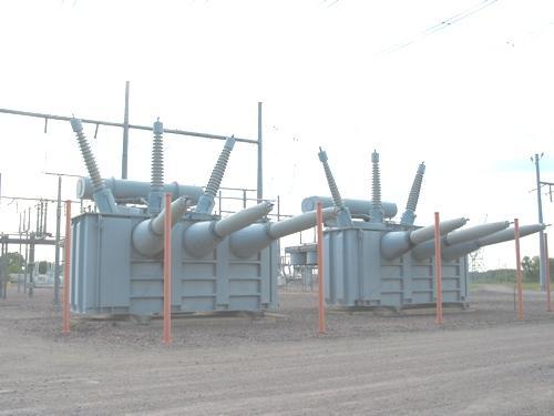 Transformadores en la estaci�n de conversi�n HDVC, MInesota, USA