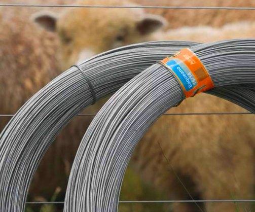 """El alambre """"vivo"""" que sale dentro del galpón hacia la línea madre, para llegar a los potreros, debe ser galvanizado 17/15, de alta resistencia."""