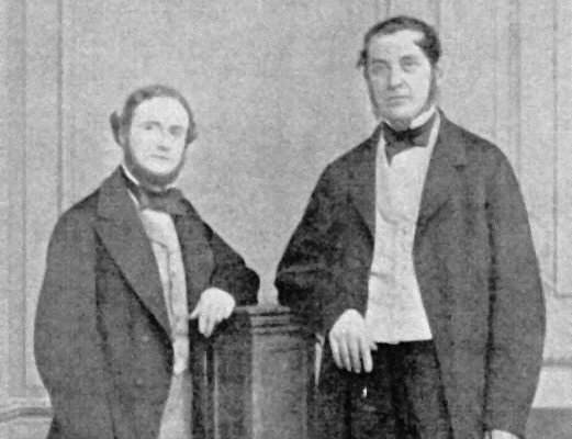 Robert Bunsen y Gustav Kirchoff.