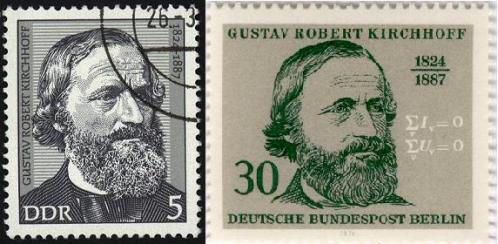 Kirchoff formuló su ley del voltaje para el análisis de circuitos en 1845 siendo todavía un estudiante.