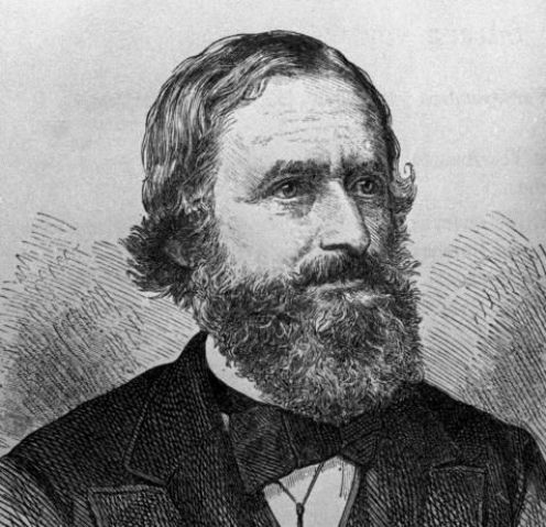 Gustav Robert Kirchhoff (12 de marzo de 1824 - 17 de octubre de 1887)