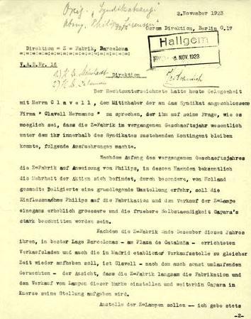 """Esta organización, que oficialmente era una empresa helvética llamada """"Phoebus S.A. Compagnie Industrielle pour le Developpement de l'Eclairage"""", se mantuvo activa bajo ese nombre por lo menos hasta 1939."""