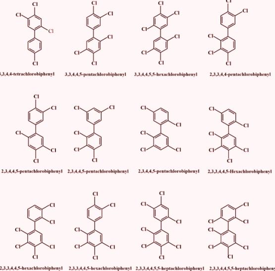 Los PCB pueden lentamente sufrir decloración natural, o sea remoción de átomos de cloro - fundamentalmente los átomos de cloro más expuestos a fotólisis y a degradación microbiana - dando lugar a eliminación de los mismos, o simplemente su reordenamiento en una molécula de PCB diferente.