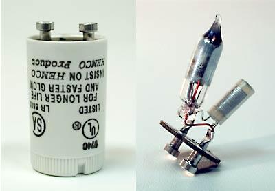 Este dispositivo se compone de una lámina bimetálica encerrada en una cápsula de cristal rellena de gas neón (Ne).