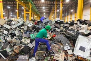 La basura eléctrica y electrónica.