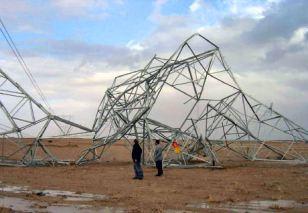 Cataluña: Los devastadores efectos del hielo en las líneas eléctricas.