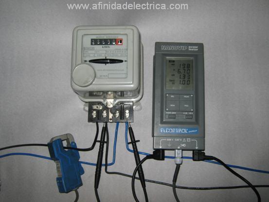 La prueba de potencia por medio de wattimetro patrón y cronómetro utilizado cuando hay necesidad de verificar el medidor en su lugar de instalación (in situ) y no es posible interrumpir el suministro eléctrico del cliente.