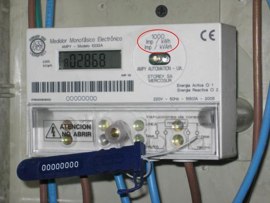 Si este valor es un número de impulsos, la constante será expresada en impulsos por kilowatt hora (imp/kWh) o watt hora por impulso (Wh/imp).