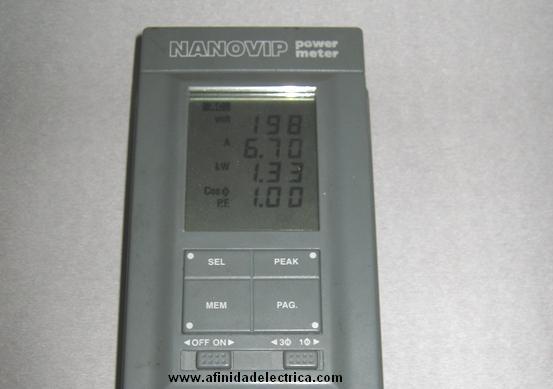 Instrumento Nanovip: Display