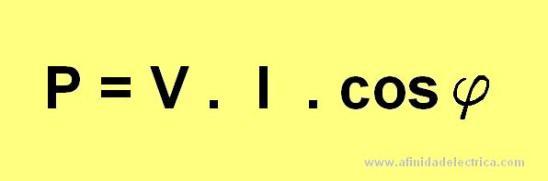 En el caso de utilizar instrumentos del tipo pinza voltamperométrica u otros que no arrojen directamente el valor de la potencia, esta podrá ser calculada como: