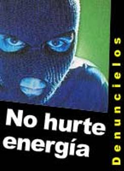 Moreno alertó a la población para que denuncie a quienes roban energía o a quienes presta el servicio de manipular los medidores de luz.