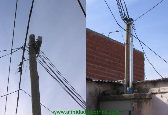 Se instalo un segundo caño (de acero galvanizado con pipeta) en el techo del nicho a fin de alojar la totalidad de las acometidas individuales realizadas con cable concéntrico.