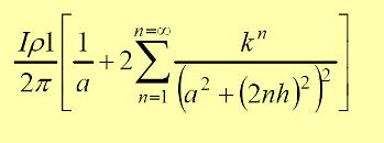 Si se sustituye en (4), (r = a) el resultado es el siguiente: