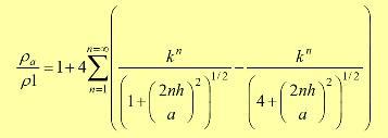 (5) es conocida como la ecuación de TAGG, mediante ésta, TAGG determinó unas curvas maestras que consisten simplemente en darle valores a las variables k, h, y a, obteniendo unos valores de ρa/ρ1 para cada caso.