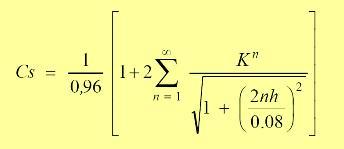 En el estándar IEEE-80, se presenta la ecuación detallada para definir los valores de Cs.
