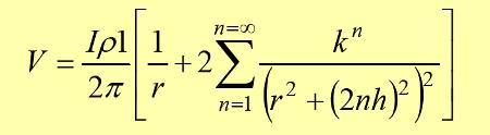 TAGG, aplica un estudio vigoroso de los suelos biestratificados y llega a la siguiente ecuación: