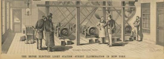 """Por esta razón se inicia en EE.UU. la era de la """"alta frecuencia"""" en la generación y transmisión de la energía eléctrica, Westinghouse 133+1/3, Thomson y Houston 125 Hz y Fort Wayne Jenny Electric 140 Hz."""
