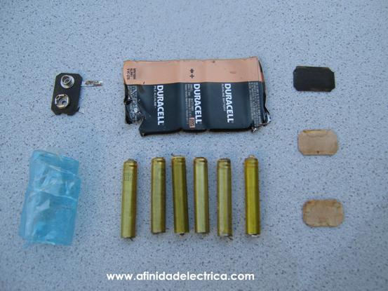 En la siguiente figura se exhiben todos los elementos que componen la batería estudiada.