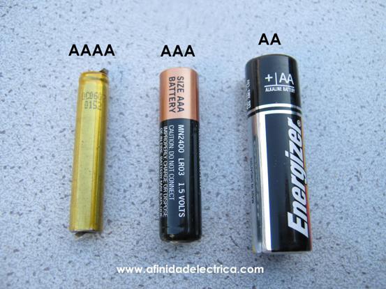 Las pilas de tamaño AAAA (o cuádruple A)
