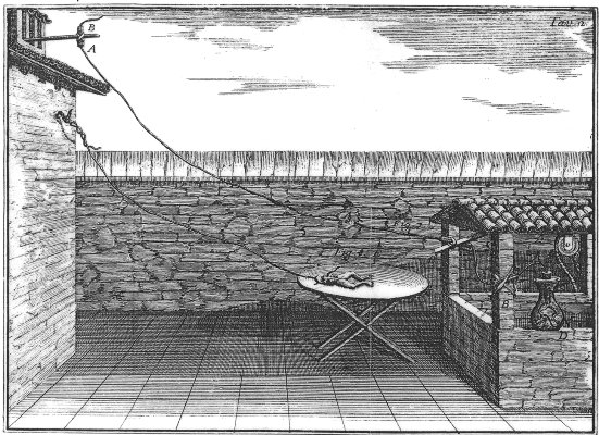 """Galvani no estaba en lo cierto, ya que creyó que la fuente de la electricidad estaba en lo que llamó """"electricidad animal""""."""