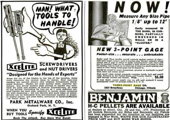Aquí también vemos la publicidad de marzo de 1944 aparecida en Popular Mechanics.