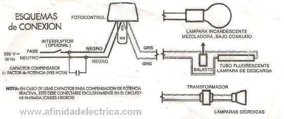 El conexionado se realiza según el siguiente circuito: