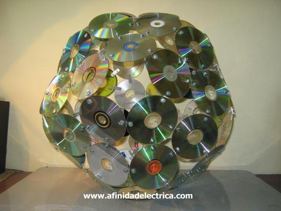 Así obtenemos este poliedro que, por estar construido con discos, nos da la ilusión visual de tener forma esférica.