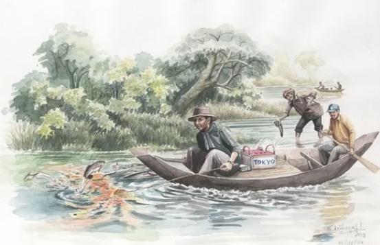 La ilustración de esta página, basada en informaciónes sobre el sistema, muestra como puede ser implementado en una embarcación de madera grande.