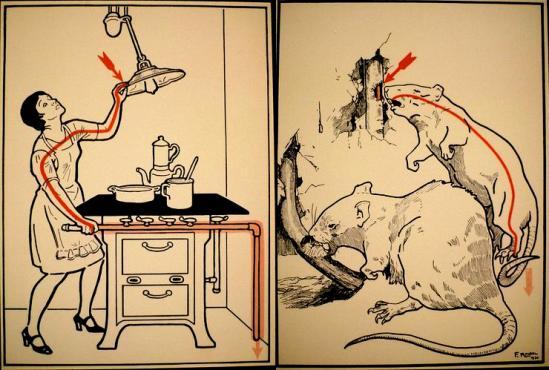 Las ilustraciones originales, realizadas por conocidos artistas como Josef Danilowatz, Franz Wacik, y Eduard Stella, ayudaron a divulgar eficientemente los (en su mayoría invisibles) peligros de la energía eléctrica.