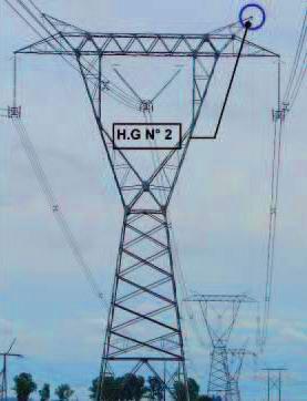 Se dividió en 11 tramos conformados entre estructuras de retención y numerados en orden creciente comenzando por el tramo comprendido entre el pórtico de la E.T. Rosario Oeste y la estructura de retención N° 1 de la línea 5CNRO1.