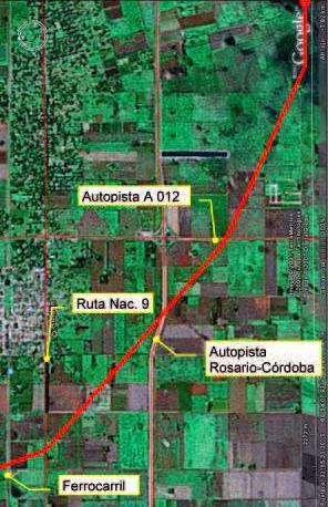 Una de las dificultades que tuvo Transener para realizar las tareas fue que la línea atraviesa una zona densamente poblada (Gran Rosario).
