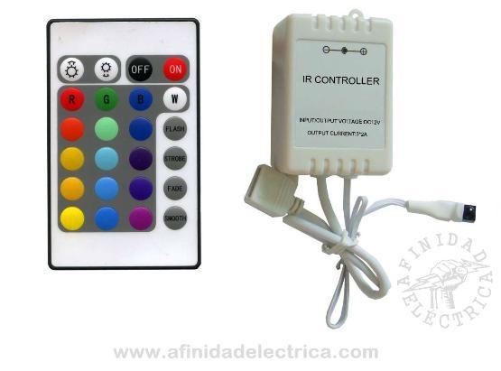 El controlador RGB es un automatismo de control para iluminación con dispositivos LED RGB (tiras y lámparas), combinando los tres colores con un controlador de este tipo, se consigue una amplia gama de colores y efectos de transición.