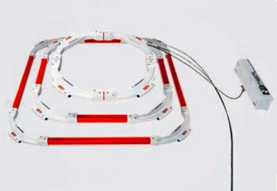 Figura 1 - Sensor de intensidad de fibra óptica para valores de CC elevados.