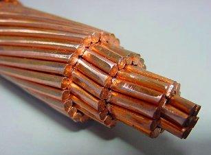 El cobre como conductor eléctrico.
