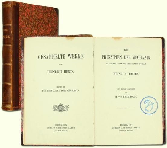 """Escribió una sola obra llamada """"Gesammelte Werke"""" que consta de tres tomos, el primero incluye algunos trabajos y la conferencia dictada en Heidelberg en la Asamblea de los naturistas: """"Sobre las ondas eléctricas""""; el tomo dos es """"Trabajos Varios"""" y el tomo tres es """"Principios de mecánica""""."""