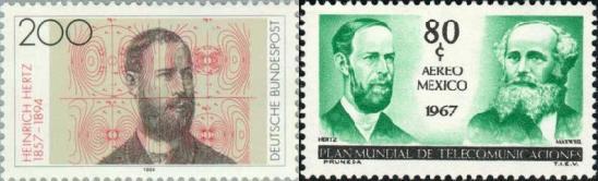 En 1883 Hertz comenzó a interesarse en los estudios realizados diez años antes por el científico escocés James Clerk Maxwell acerca del electromagnetismo.