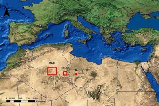 El Instituto Europeo de Energía considera que, con capturar el 0,3 por ciento de la energía solar que cae sobre el Sahara y Oriente Mediom, sería suficiente para abastecer de energía eléctrica a toda Europa.
