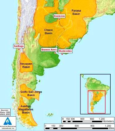 Se cree que las reservas de Argentina son las terceras del mundo, después de las de Estados Unidos y China.