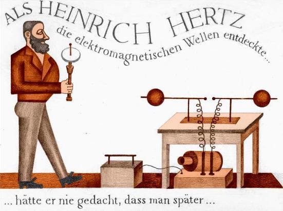 Cuando Heinrich Hertz descubrió ondas electromagnéticas ...
