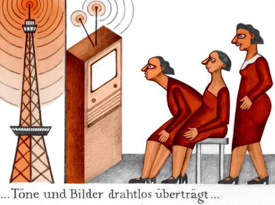 ... los sonidos y las imágenes se transmitirían de forma inalámbrica ...