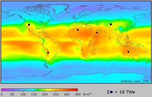 Nuestro planeta recibe del sol una cantidad de energía anual de aproximadamente 1,6 millones de Kwh, de los cuales sólo un 40% es aprovechable,