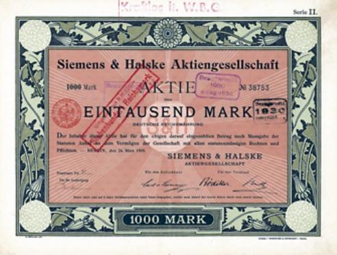 En 1847 construyó un nuevo tipo de telégrafo, poniendo así la primera piedra en la construcción de Siemens AG junto a Johann Georg Halske (entonces, Telegraphen-Bauanstalt von Siemens & Halske).
