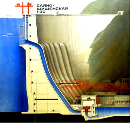 En su momento, fue considerada la joya de la ingeniería soviética y producía hasta tres veces más energía que la presa estadounidense Hoover, en el cañón de Colorado.