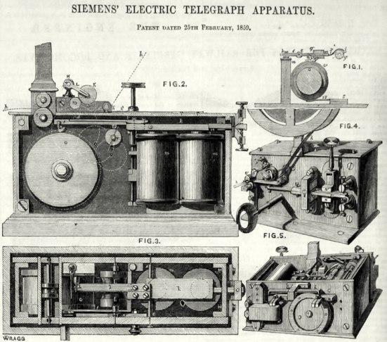Es pionero en otras invenciones, como el telégrafo con puntero/teclado para hacer transparente al usuario el código Morse o la primera locomotora eléctrica, presentada por su empresa en 1879.