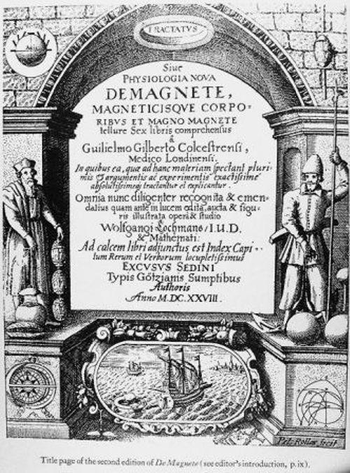"""Gilbert publicó en latín un tratado titulado """"De Magnete"""", sobre el magnetismo y las propiedades de atracción del ámbar."""
