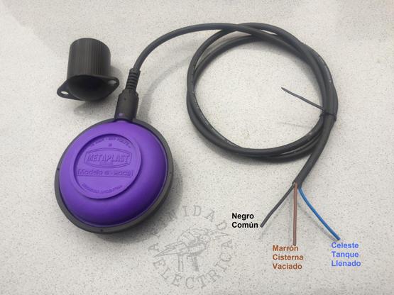 Como se utiliza el mismo material para ambas funciones, la configuración de modo de funcionamiento se realiza mediante el conexionado del contacto inversor del automático en el extremo de su cable.