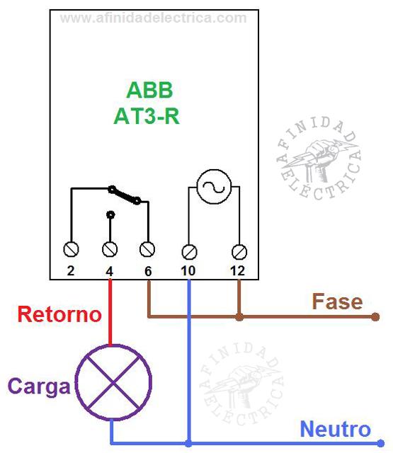 Por lo que el circuito para controlar una carga directa de hasta 16A será el siguiente: