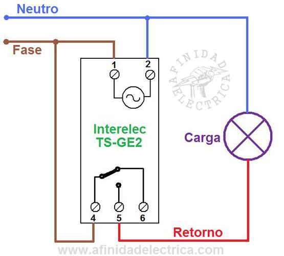 Para comandar una corriente de hasta 10 Ampere en forma directa se aplicará el siguiente circuito eléctrico.