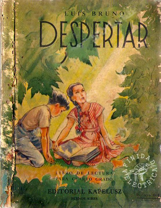 """Otra referencia al tema de los servicios públicos fue publicada en el texto """"Despertar"""" del autor Luis Bruno impreso por la Editorial Kapelusz en el año 1953."""